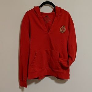 Chaps Women's Pullover Hoodie Red XL